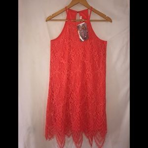 Love, FIRE Women's High Neck Lace Dress, NWT